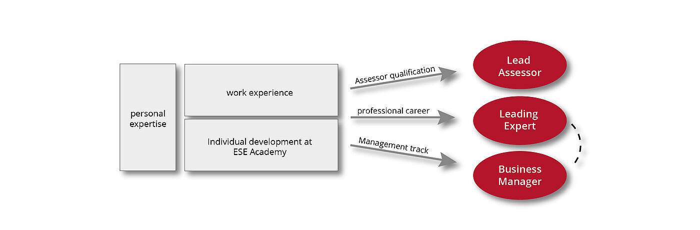 Chart on personnel development at ESE GmbH